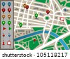 City map. Raster version - stock photo