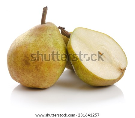 """""""Claude Blanchet"""" pear variety, also known as """"La France"""" in Japan and highly revered for its distinctive flavor, aroma, and juiciness - stock photo"""
