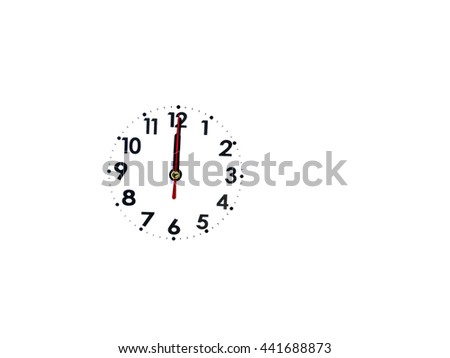 12:00 clock on Background - stock photo
