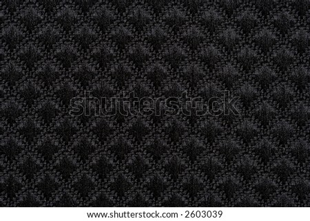 1:1 close up of black patterned silk, extremely high detail - stock photo