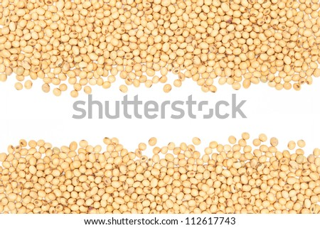 close-up, soybeans background detail. - stock photo