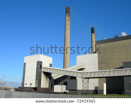 coal fired power station 2 - stock photo