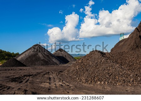 Coal mine industry in Thailand - stock photo