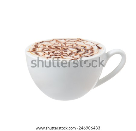 coffee cup isolated - stock photo
