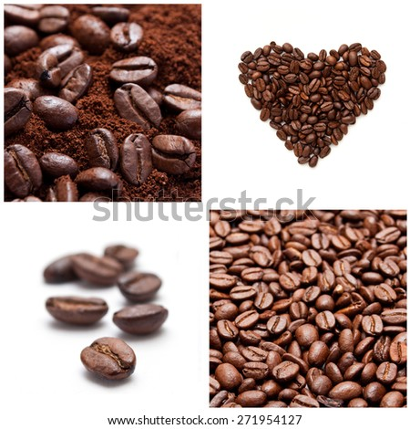 coffee with beans concept collage - stock photo