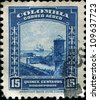 COLOMBIA - CIRCA 1941: A stamp printed in Colombia shows  Spanish Fort, Cartagena, circa 1941 - stock photo