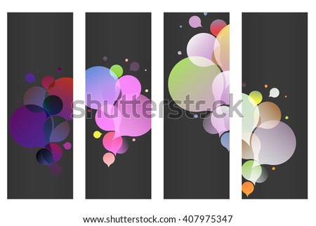 color bubble banners - stock photo