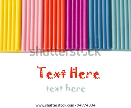 Color children's plasticine  on a white background - stock photo
