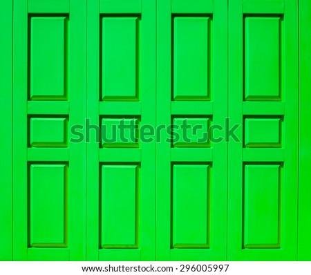color wood door - stock photo