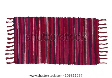 Colorful carpet or doormat for cleaning feet - stock photo
