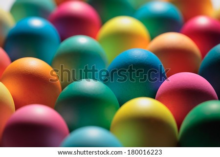 Colorful/ painted  Easter eggs background - stock photo