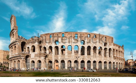 Colosseum (Colosseo) in Rome, Italy - stock photo
