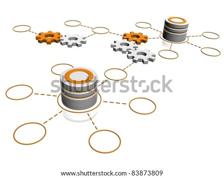 compatibility database infrastructure concept - stock photo