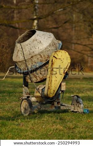 Concrete mixer, - stock photo