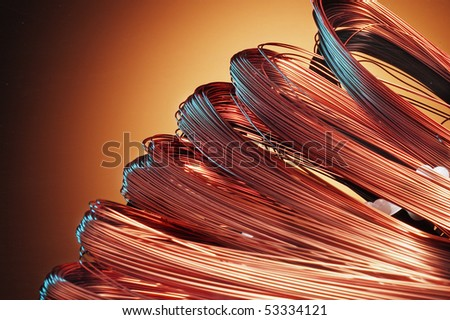 copper skeins - stock photo