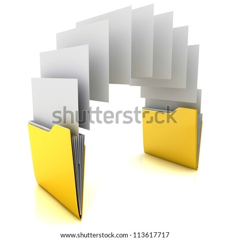 Copy folders - stock photo