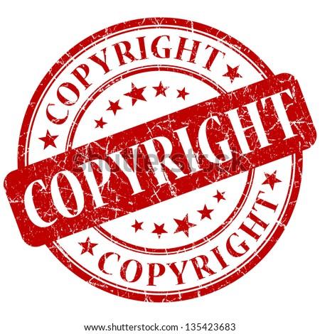 copyright stamp - stock photo