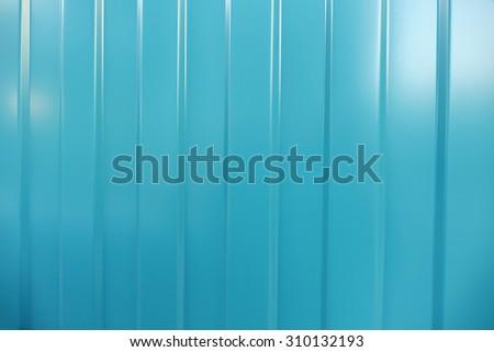 Corrugated iron is new. Texture color. Background  aquamarine.                               - stock photo