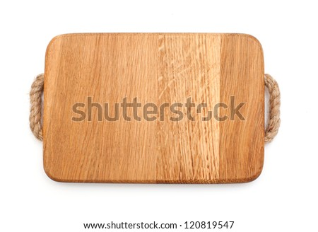 cutting board over white - stock photo