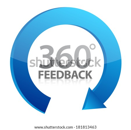 360 cycle feedback symbol illustration design over a white background - stock photo