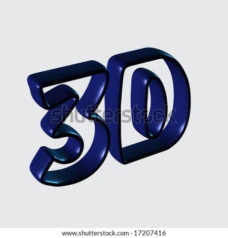 3D. - stock photo