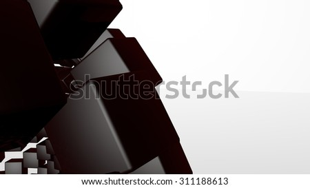 3D abstract advanced technology background. Glossy cubes with room for your info - stock photo