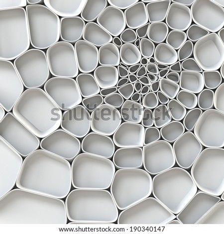 3d abstract artificial background - stock photo