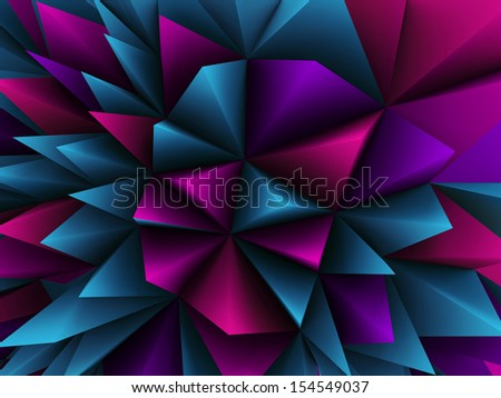 3d abstract color architectural background - stock photo