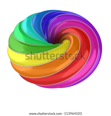 3d abstract colorful shape - stock photo