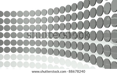 3d abstract design circles - stock photo