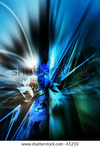 3D Abstract Explosion - stock photo