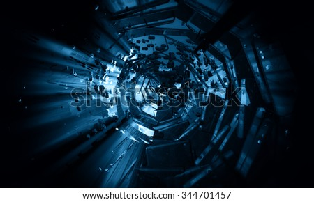 3d abstract explosion background - stock photo
