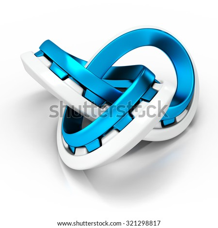 3d abstract infinity knot on white background - stock photo