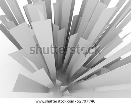 3d abstract plate - stock photo