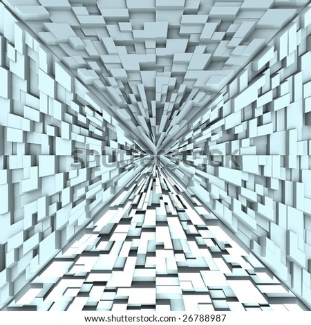 3d Abstract Pyramid From Boxes 01 - stock photo