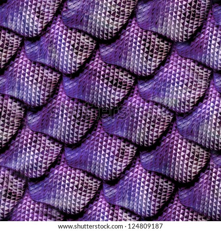 3d abstract Seamless snake skin, reptile scale - stock photo