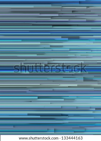 3d abstract striped backdrop in varied blue shape - stock photo