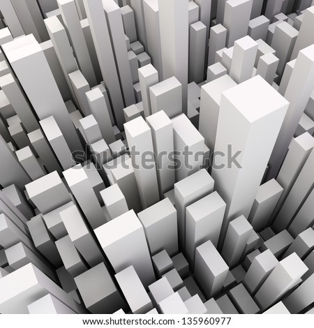 3d abstract wooden background - stock photo