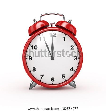 3d Alarm Clock  - isolated  - stock photo