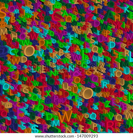 3d Alphabet background,  - stock photo