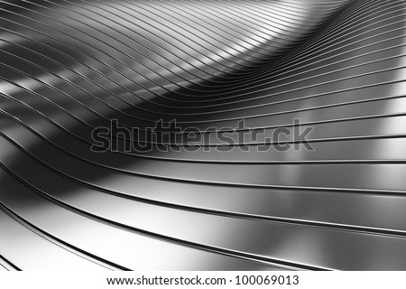 3d Aluminum abstract silver metal background illustration - stock photo