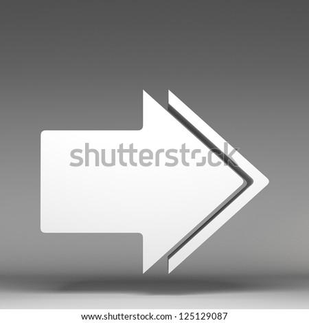 3d arrow - stock photo