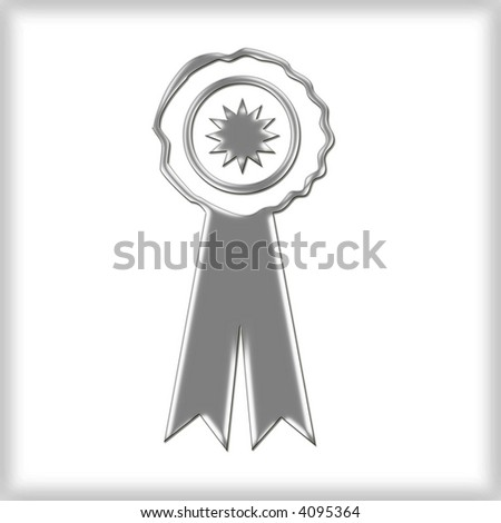 3d Award Ribbon - stock photo