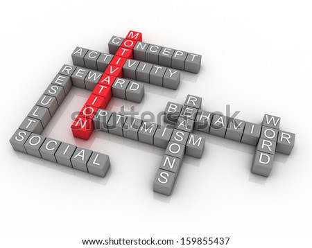 3d Background concept wordcloud illustration of motivation  - stock photo