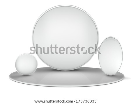 3d  background,   exhibition, isolated on white - stock photo