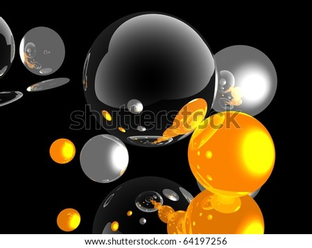 3d ball - stock photo