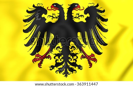 3D Banner of Holy Roman Emperor (After 1400).      - stock photo