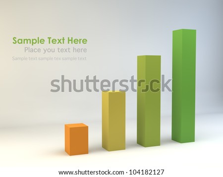 3D Bar chart - stock photo