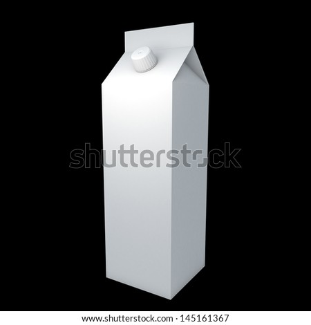 3d beverage, milk, drink, package blank pattern for graphic design on surface with clipping paths, work paths included - stock photo