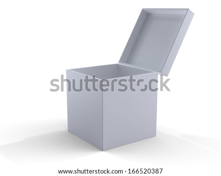 3d blank box - stock photo